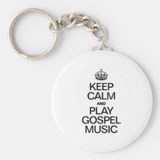 KEEP CALM AND PLAY GOSPEL MUSIC KEYCHAINS