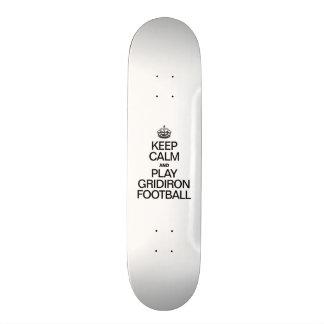 KEEP CALM AND PLAY GRIDIRON FOOTBALL 18.1 CM OLD SCHOOL SKATEBOARD DECK