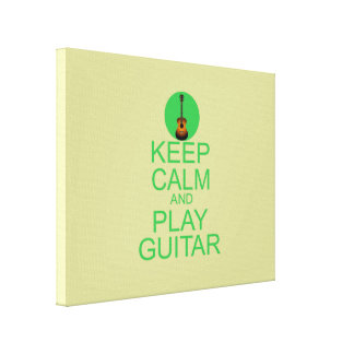 Keep Calm and Play Guitar (Acoustic) Stretched Canvas Prints