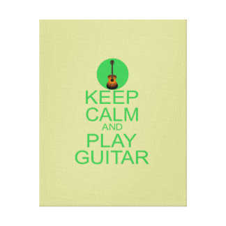 Keep Calm and Play Guitar (Acoustic) Gallery Wrapped Canvas