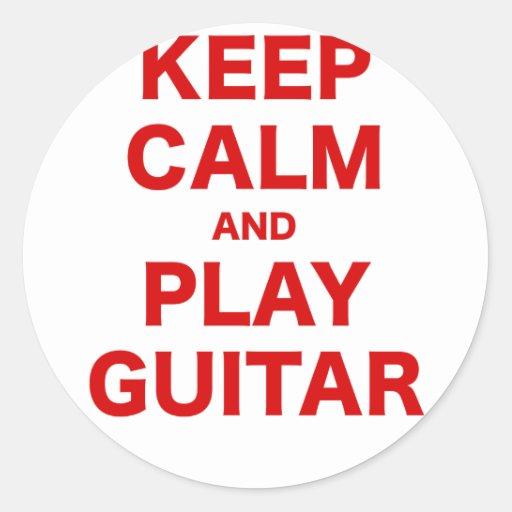 Keep Calm and Play Guitar Sticker