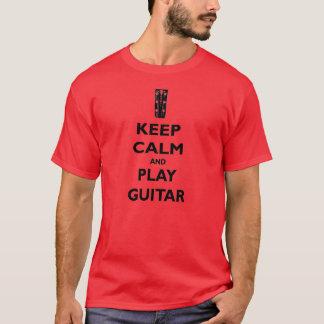Keep Calm and Play Guitar Tee