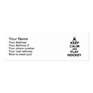 Keep calm and play Hockey Business Card