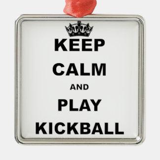 KEEP CALM AND PLAY KICKBALL.png Christmas Ornament