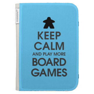 Keep Calm and Play More Board Games Kindle Keyboard Cases