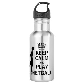 Keep Calm and Play Netball 532 Ml Water Bottle