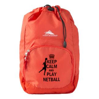 Keep Calm and Play Netball Bag