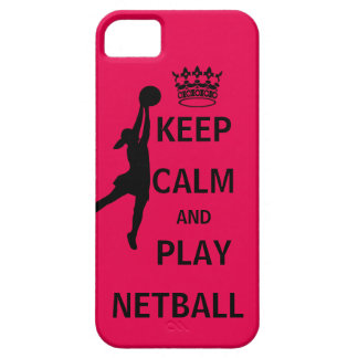 Keep Calm and Play Netball Barely There iPhone 5 Case