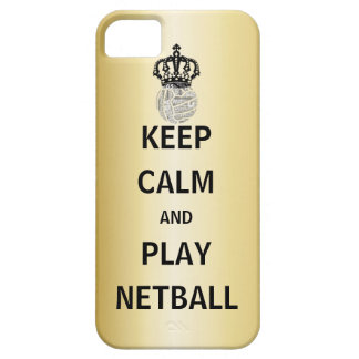 Keep Calm and Play Netball Quote Gold Colour iPhone 5 Cover