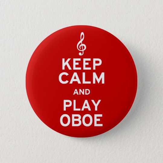 Keep Calm and Play Oboe 6 Cm Round Badge