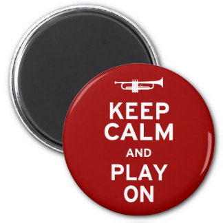 Keep Calm and Play On 6 Cm Round Magnet