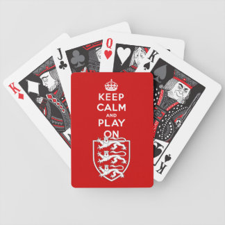 Keep Calm and Play On Bicycle Playing Cards