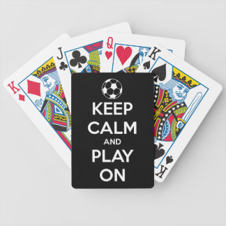 Keep Calm and Play On Black Bicycle Playing Cards