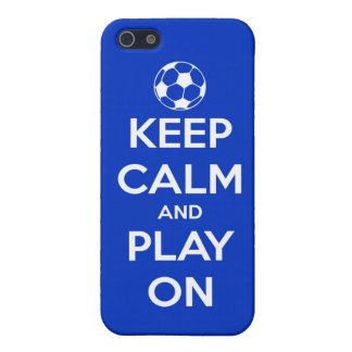 Keep Calm and Play On Blue Case For iPhone 5/5S