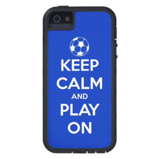 Keep Calm and Play On Blue Case For The iPhone 5