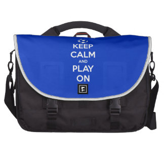 Keep Calm and Play On Blue Commuter Bag
