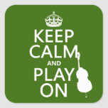 Keep Calm and Play On (cello) (any colour)