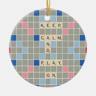 Keep Calm And Play On Christmas Ornament