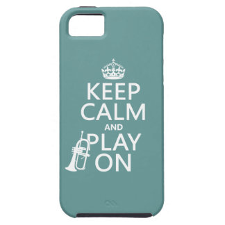 Keep Calm and Play On (cornet)(any color) iPhone 5 Cover