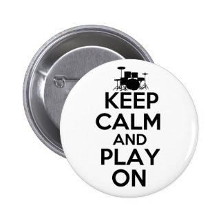 Keep Calm and Play On (Drums) Button