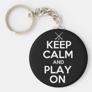 Keep Calm and Play On - Field Hockey Key Chain