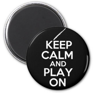 Keep Calm and Play On! (Flute) 6 Cm Round Magnet