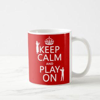 Keep Calm and Play On (flute)(any backgroundcolor) Coffee Mug