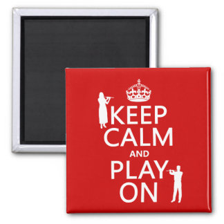 Keep Calm and Play On (flute)(any backgroundcolor) Refrigerator Magnets