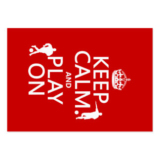 Keep Calm and Play On (football) (in any color) Large Business Cards (Pack Of 100)