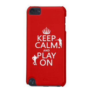 Keep Calm and Play On (football) (in any color) iPod Touch (5th Generation) Cover