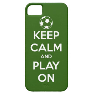 Keep Calm and Play On Green iPhone 5 Cover
