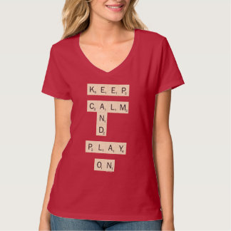 Keep Calm And Play On - joined T-Shirt