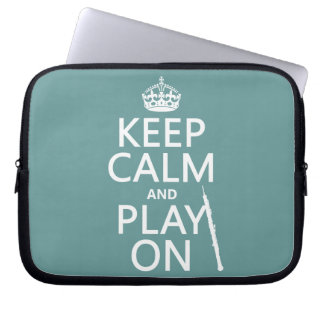 Keep Calm and Play On (oboe)(any color) Laptop Sleeve