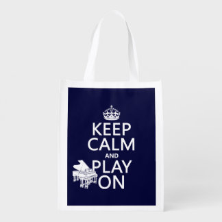 Keep Calm and Play On (Piano)(any background color