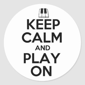 Keep Calm and Play On Piano Sticker