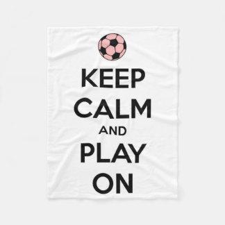 Keep Calm and Play On Pink and Black Fleece