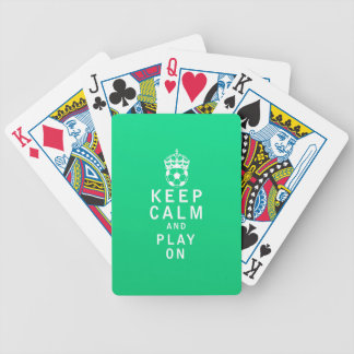 Keep Calm and Play On Playing Cards