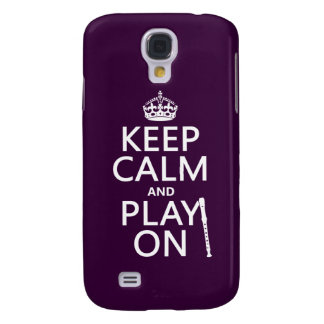 Keep Calm and Play On (recorder)(any color) Galaxy S4 Case
