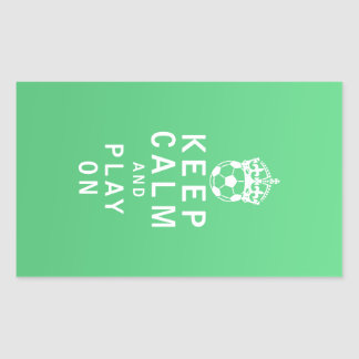 Keep Calm and Play On Rectangular Sticker
