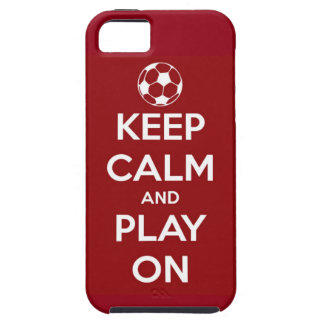 Keep Calm and Play On Red iPhone 5 Case