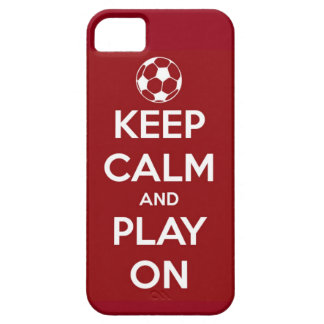 Keep Calm and Play On Red iPhone 5 Covers