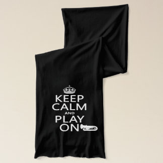 Keep Calm and Play On (tuba)(any background color) Scarf