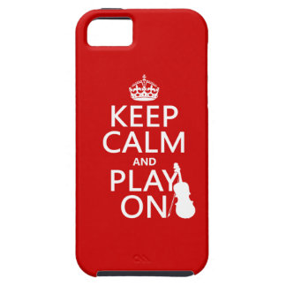 Keep Calm and Play On (violin)(any color) Case For The iPhone 5
