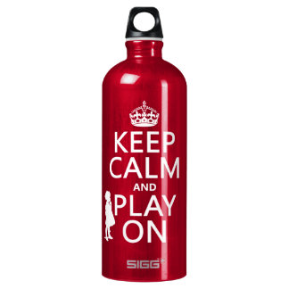 Keep Calm and Play On Water Bottle
