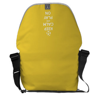 Keep Calm and Play On Yellow Commuter Bags