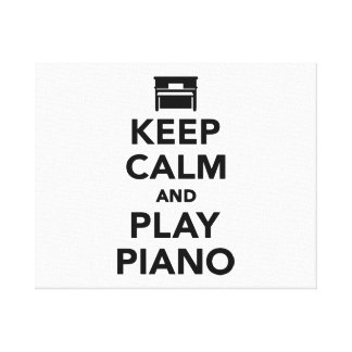 Keep calm and Play Piano Canvas Print