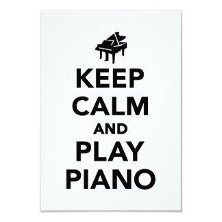 Keep calm and play piano invitation