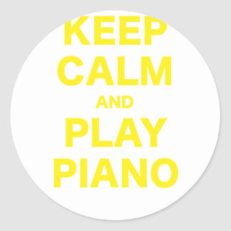 Keep Calm and Play Piano Sticker