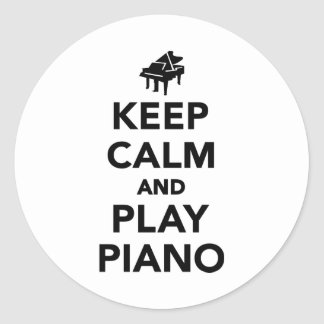 Keep calm and play piano stickers