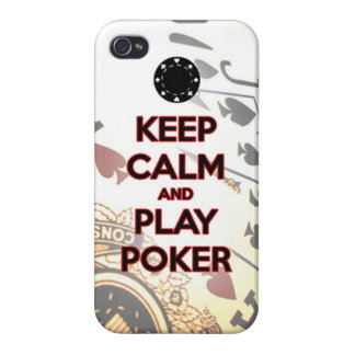keep calm and play poker cover for iPhone 4